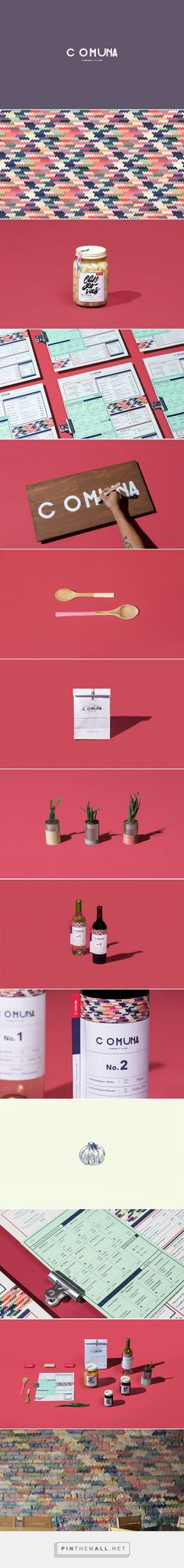 COMUNA #Food #Wine #packaging designed by FUTURA'​ - http://www.packagingoftheworld.com/2015/06/comuna.html