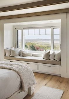 Home Decor Bedroom;Window seat with a view :: beautiful beach house in Martha's Vineyard with barn … - Home Decor Bedroom Living Room Interior, Home Decor Bedroom, Home Interior Design, Living Room Decor, Bedroom Ideas, Living Rooms, Bedroom Beach, Bedroom Girls, Bedroom Furniture
