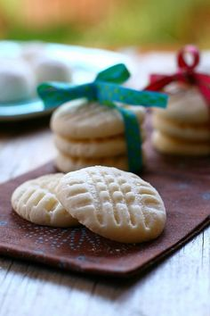 I remember having these cookies when I was little - yes, they literally do melt in your mouth :-)