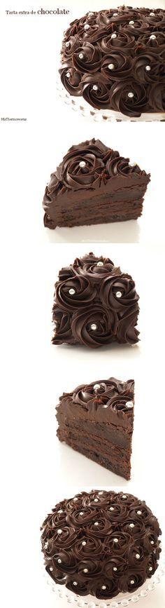 Tarta extra de chocolate (thermomix)                              …