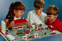 """design-is-fine: """"Lego, City / Maps, Scale The first Lego System was launched 1955 in Denmark, based on a city map, at first it included trains as well. Lego Hotel, Lego Display, Lego System, Model Shop, Lego Building, City Maps, Lego Sets, Legos, More Fun"""