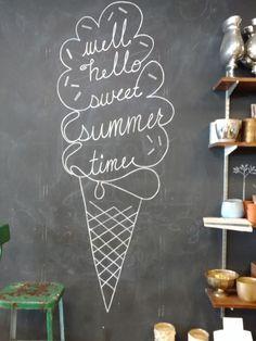 Summer ice cream chalkboard - Chalk Art İdeas in 2019 Chalkboard Doodles, Chalkboard Tags, Kitchen Chalkboard, Chalkboard Drawings, Chalkboard Lettering, Chalkboard Designs, Chalk Drawings, Chalkboard Art Quotes, Chalkboard Paint