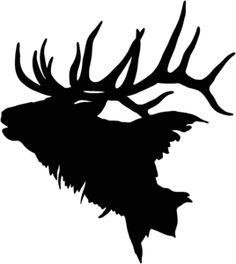 Elk Vinyl Hunting Decal 9724 for sale online Elk Silhouette, Animal Silhouette, Hunting Decal, Elk Hunting, Metal Art, Wood Art, Elk Tattoo, Elk Head, Wildlife Decor
