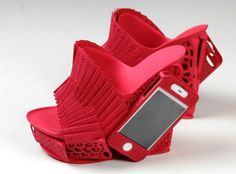 3D-printed designer shoe contains working iPhone: http://cnet.co/18wsRAk