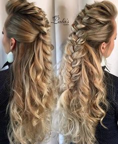 Braided big curls
