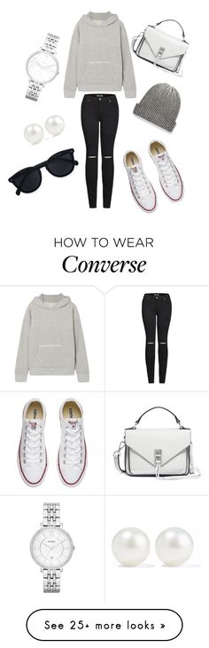 """Untitled #355"" by passion-for-fashions on Polyvore featuring Simon Miller, 2LUV, Converse, Le Specs, The Elder Statesman, FOSSIL, Rebecca Minkoff and Kenneth Jay Lane"