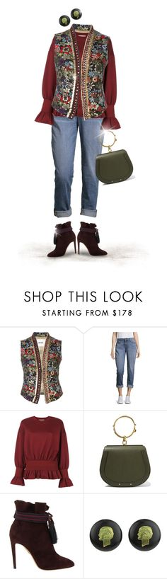 """""""Celebration"""" by joy2thahworld ❤ liked on Polyvore featuring Bazar Deluxe, Eileen Fisher, STELLA McCARTNEY, Chloé, Aquazzura, Chanel, floral, booties, embroidered and autumn2017"""