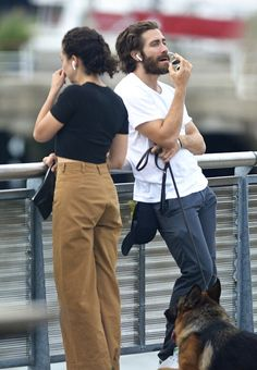 Jake Gyllenhaal and Greta Caruso out in New York City on August 11, 2017