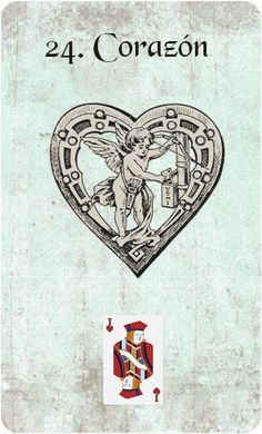 24. Heart from a new deck in the works by, La imaginación crea una cosmogo.