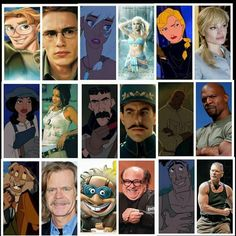 Actors who would portray animation perfectly