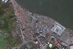 Typhoon Haiyan: Before and after Aerial images taken over the Philippines reveal the scale of devastation Typhoon Haiyan has caused in the once-vibrant coastal city of Tacloban.