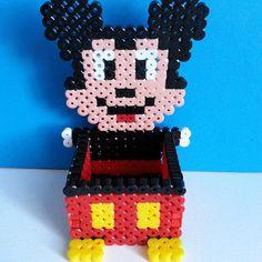 Mickey Mouse box hama beads by perlartshop