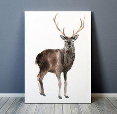 Woodland nursery print Animal art Watercolor by DeerAndBadgers
