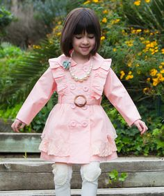 Look at this Trish Scully Child Pink Olivia Coat - Girls on #zulily today!