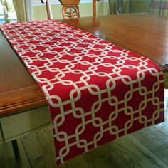 poppy red table runner - Google Search