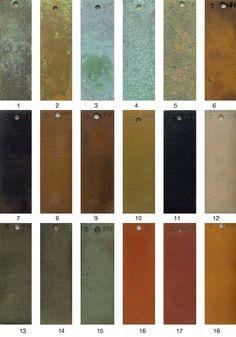 Patina Paint, Patina Color, Copper Color, Bronze Color Paint, Bedroom Color Schemes, Colour Schemes, Color Palettes, Fashion Retail Interior, Bronze Patina