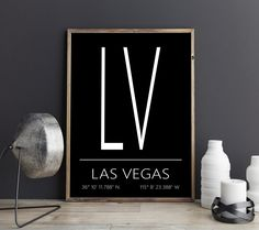 Las Vegas Kunstdruck, Las Vegas Poster, Las Vegas Artprint, Las Vegas Koordinaten, Las Vegas Digital Print, Druckbares Poster von FineArtHunter auf Etsy