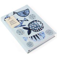 Fishy fishy hand-stitched journal