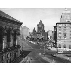 High angle view of a town square Copley Square Boston Massachusetts USA Canvas Art - (18 x 24)