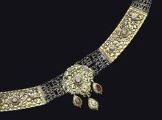 A HUNGARIAN PARCEL-GILT SILVER AND STONE-SET BELT -  PROBABLY TRANSYLVANIA, 18TH CENTURY