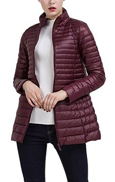 693ace759275 Gihuo Women s Packable Ultralight Long Down Jacket Puffer Coat (Large