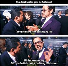 He's never boring on red carpets. | 32 Reasons Robert Downey Jr. Is The Most Perfect Man In The Universe