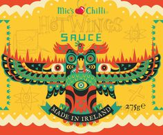 Mics Chilli - Hot Wings Sauce by Steve Simpson, via Behance