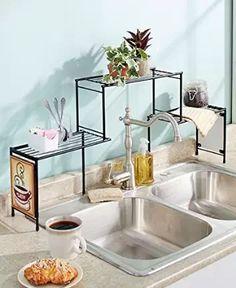 Amazon.com: over the faucet shelf