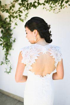 #wedding-dress #fashion Open back #lace dress by http://www.ulla-maija.com, Photography: Adrienne Gunde Photography - adriennegunde.com  Read More: http://stylemepretty.com/2013/10/18/farm-to-table-wedding-from-adrienne-gunde/