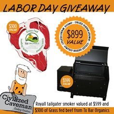 Labor Day giveaway from George, the Civilized Caveman