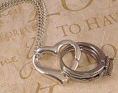 Wedding Ring Holder Pendant Sterling Silver Heart. $30.00, via Etsy.