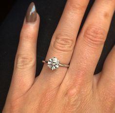 A #beautiful 1.54ct round diamond set in a simple yet #stunning bespoke 18ct white #gold mount. Perfect! #selinijewellery #design #bespoke #diamonds #engagementring #romance #instawed