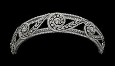 A variant on a Greek Wave Tiara (diamonds).