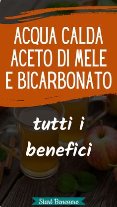 The benefits of drinking Hot Water with Apple Vinegar and Bicarbonate .- I benefici nel bere Acqua Calda con Aceto di Mele e Bicarbonato remedies - Drinking Hot Water, Apple Vinegar, Care Quotes, Beauty Care, Coffee Cans, Natural Skin Care, Lose Weight, Health, Fitness