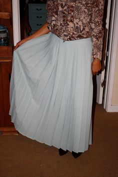 Beautiful Vintage Blue Pleated Skirt Small by itsonlyyou on Etsy, $15.00