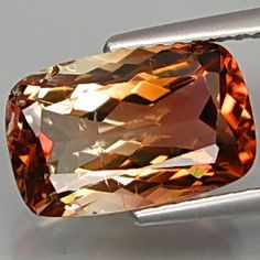 Hot Orange Pink to Light Pink Bi Color Tourmaline by SilverFound, $65.00