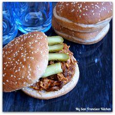 Pulled BBQ Chicken Sandwiches | My San Francisco Kitchen