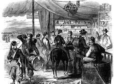 Pillar to Post: THE BREWSPAPER / CIVIL WAR BEER DRINKERS GO TO WAR.  Interior of a sutler's tent.