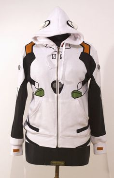OTAKool: Hooded full zip sweatshirt inspired by REI AYANAMI's plugsuit from Neon Genesis Evangelion. Made on demand!
