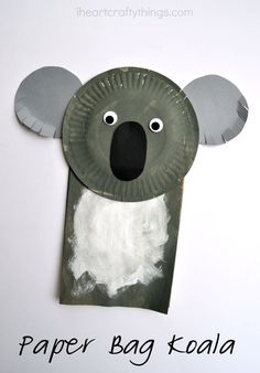 Turn a paper bag into an adorable Paper Bag Koala Craft for Kids.