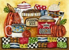 Art Print 8x10. Pumpkin Spice by studiopetite on Etsy, $18.00