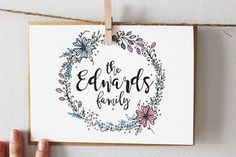 Find it on Etsy! . . .  #watercolor #watercolorpaintings #thankful #bethankful #flowerwreath #wreath #coconutgrove #miami #southflorida #leaves #botanicaltattoo #botanical #etsyseller #etsyshop #etsygifts #handmade #handmadeparade #etsyfinds