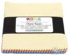 Kona Solids - New Pastel Palette Charm Pack from Missouri Star Quilt Co Moda Jelly Rolls, Charm Quilt, Pastel Palette, Missouri Star Quilt, Robert Kaufman, Charm Pack, Kona Cotton, Charmed, Quilts