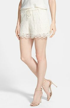 floral lace shorts / two by vince camuto