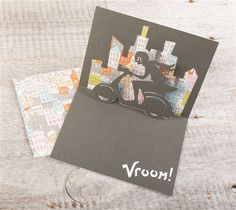 Simple Pop-up Cards Cricut cartridge -- Vroom Pop-up card. Make It Now with the Cricut Explore machine in Cricut Design Space.
