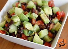 Black bean cucumber avocado salad recipe