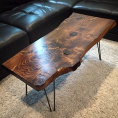 Live Edge Table by BoltWoodWorks on Etsy https://www.etsy.com/listing/274791784/live-edge-table
