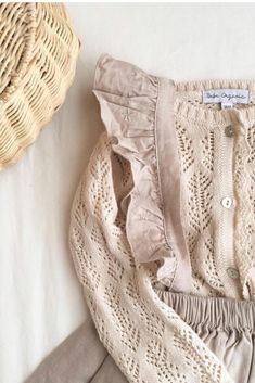 Summer Cardigan, Linen Skirt, Taupe Color, Mother Of Pearl Buttons, Lace Patterns, Knitting Designs, Organic Cotton, Kids Fashion