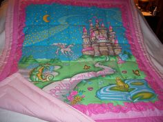Baby Happily Ever After Girl Baby/Toddler(out of print) Cotton Quilt-NEWLY MADE 2015 by quilty61 on Etsy