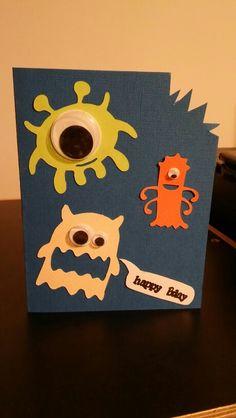 Moster card  #monster #card #birthday #happy #přáníčka #narozeniny #forboys